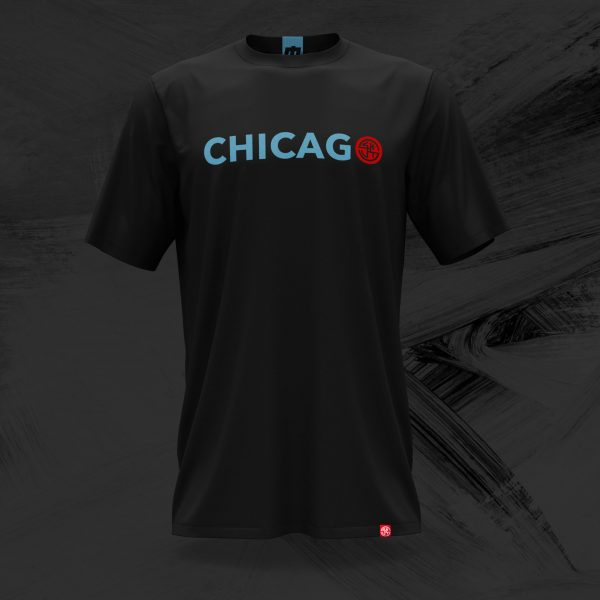 chicago skut logo t shirt in black