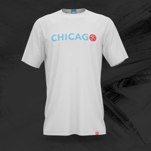 chicago skut logo t shirt in white