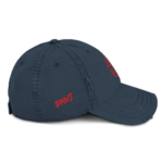 Distressed SKUT Cap (Red Emblem) (Black/Navy)