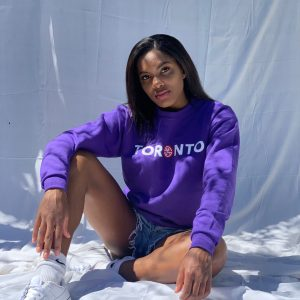 brittney gibbs skut city toronto the 6ix purple crewneck